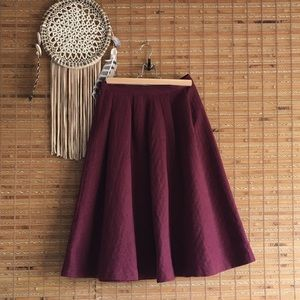 High waisted A Line Skirt